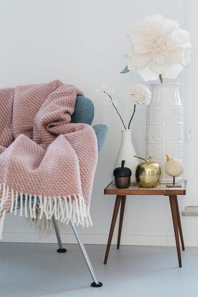 plaid roze klippan velvet