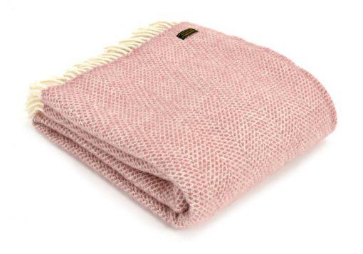 Plaid wol: roze
