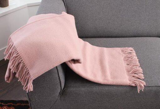 plaid roze wol effen