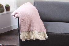 plaid roze wol tweedmill