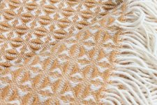 plaid wol okergeel tweedmill