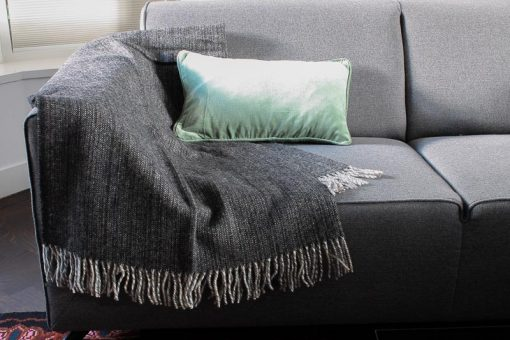 plaid zwart wol klippan
