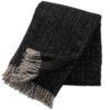 plaid zwart lamswol gemeleerd klippan bjork