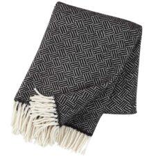plaid zwart lamswol klippan samba