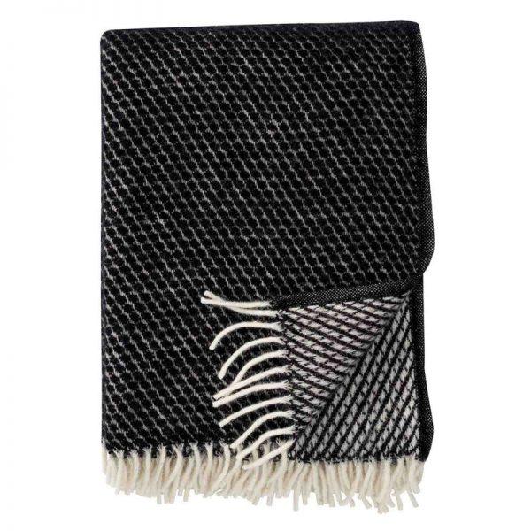 Plaid lamswol Velvet: zwart