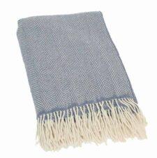 Plaid cashmere-merino: blauw