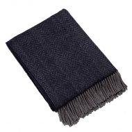 Plaid cashmere-merino: donkerblauw