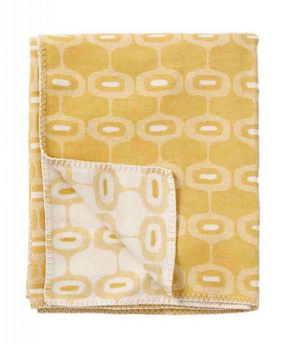 Plaid organisch katoen: geel