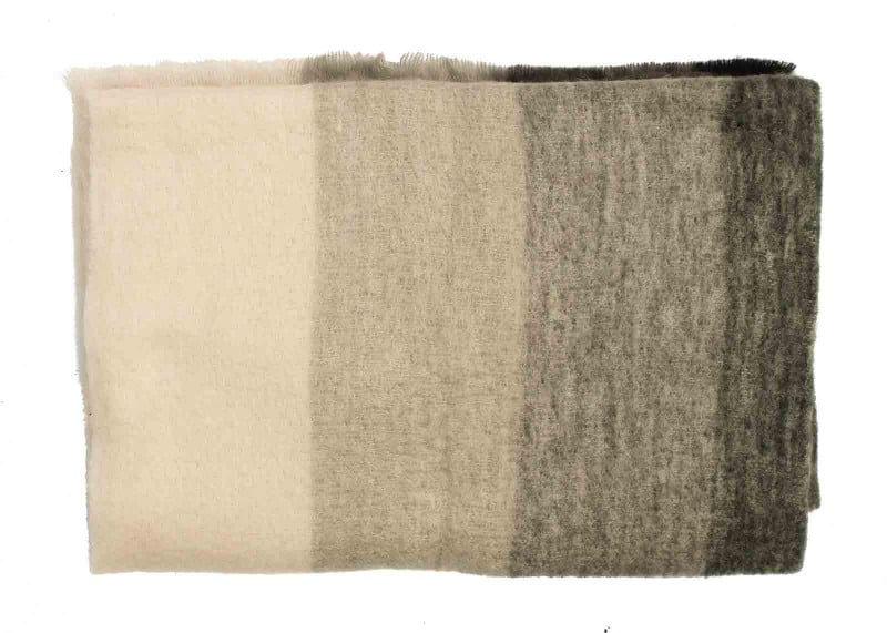 Plaid mohair grijs tinten   Geweven in Ierland   John Hanly