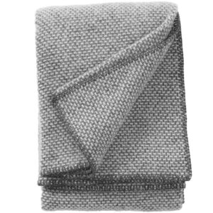Plaid lamswol Domino: grijs