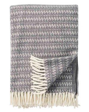 Plaid lamswol Sumba: grijs