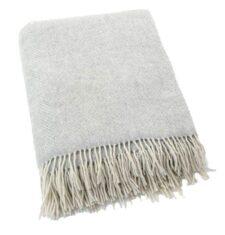 Plaid cashmere-merino: licht grijs