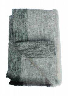 Plaid brushed mohair: grijs