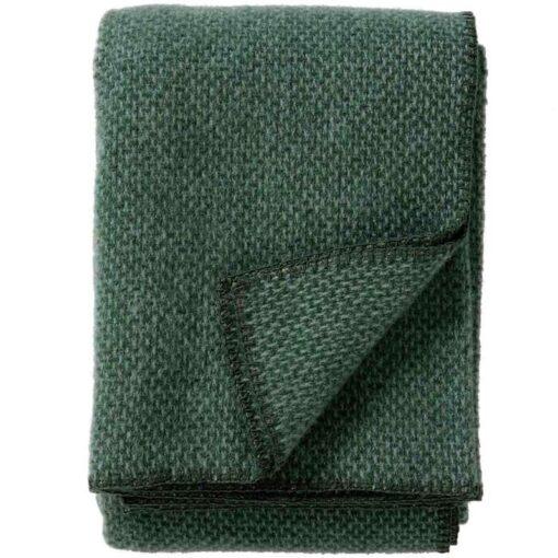 Plaid lamswol Domino: groen