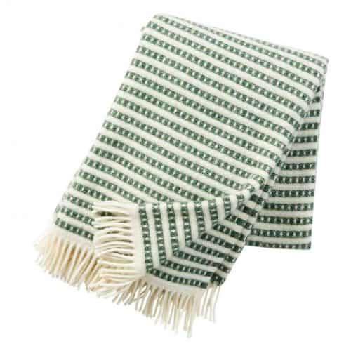 Plaid lamswol Olle: groen