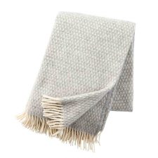 Plaid lamswol Knut: lichtgrijs light grey
