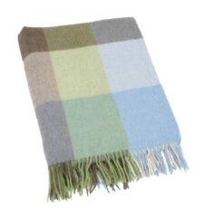Plaid lamswol: lichtblauw