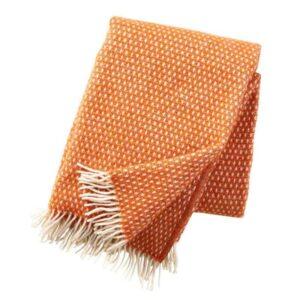 Plaid lamswol Knut: oranje