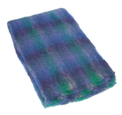Plaid brushed mohair: paars