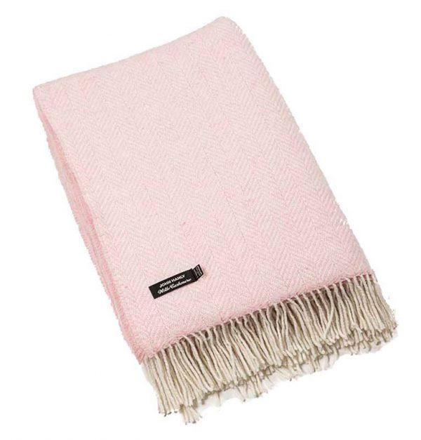 Plaid cashmere-merino: roze