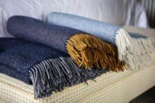 plaids blauw cashmere