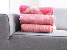 plaids rood tweedmill wol