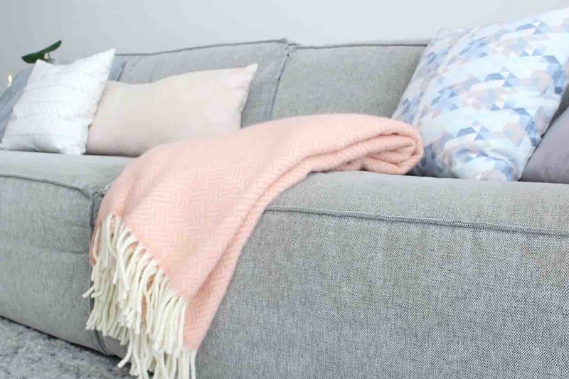 roze plaid Klippan lamswol eco duurzaam