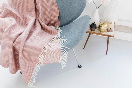 plaid wol roze klippan