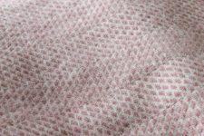 roze plaid tweedmill wol
