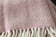 roze plaid wol tweedmill