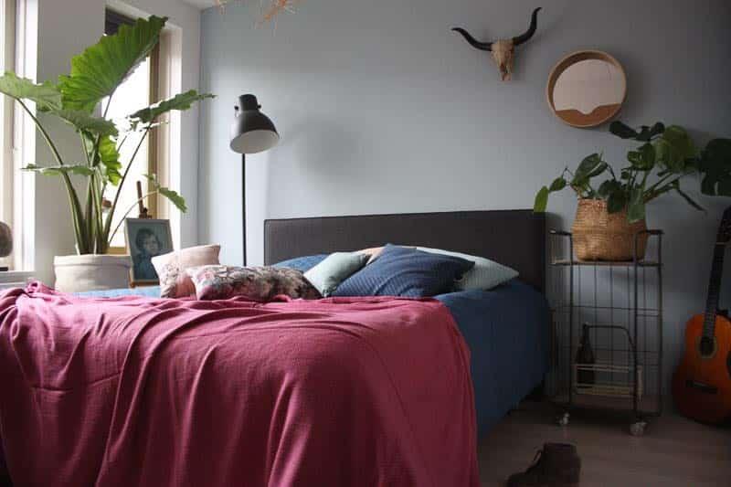 roze sprei slaapkamer
