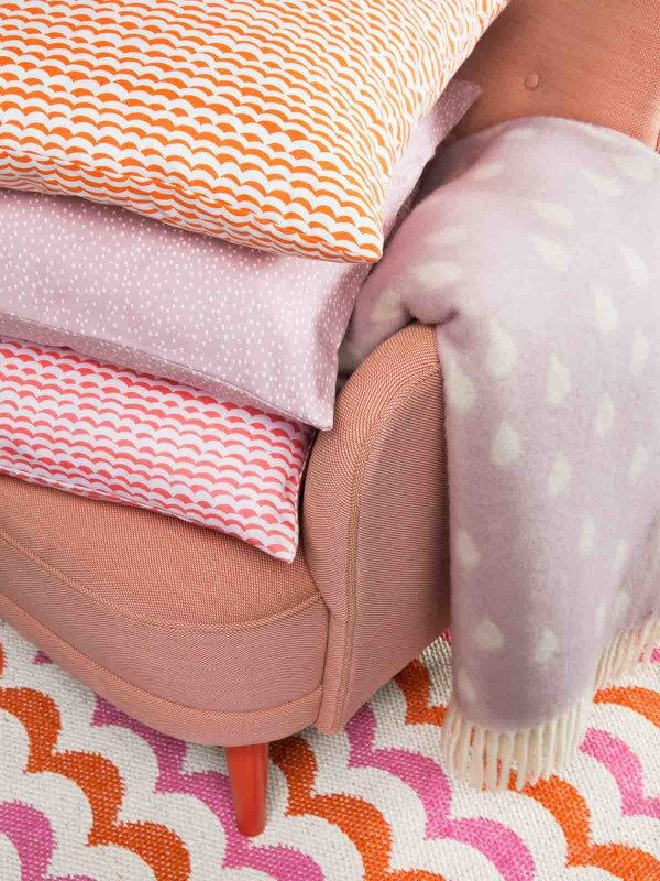 plaids en dekens roze