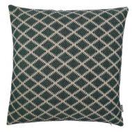 Kussen groen met beige patroon