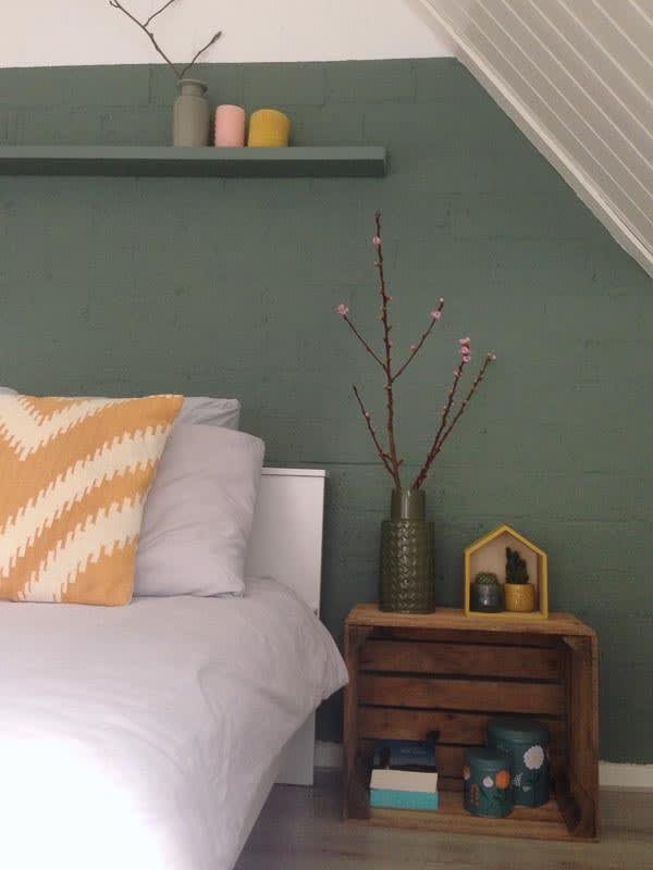 slaapkamer geel kussen