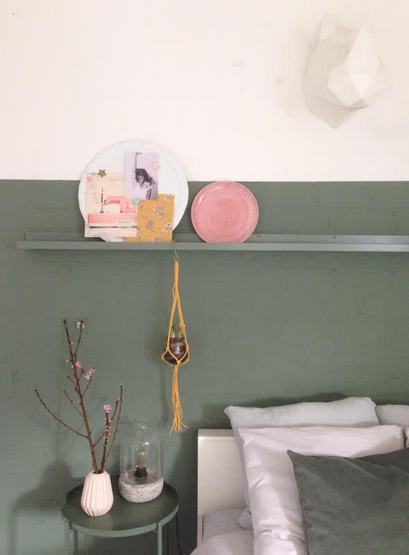 slaapkamer groene muur