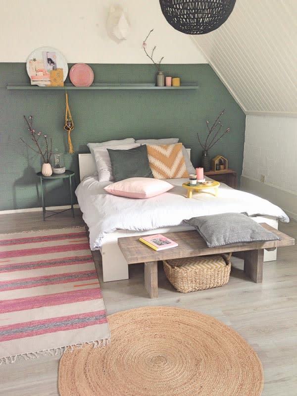 slaapkamer wit dekbedovertrek