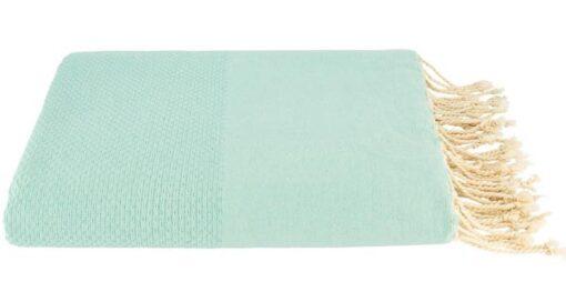 plaid mintgroen grand foulard katoen
