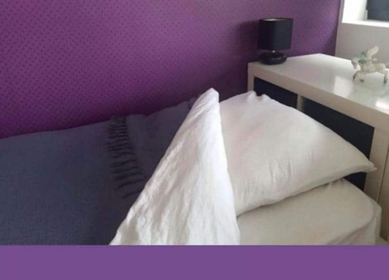 ultra violet slaapkamer inspiratie