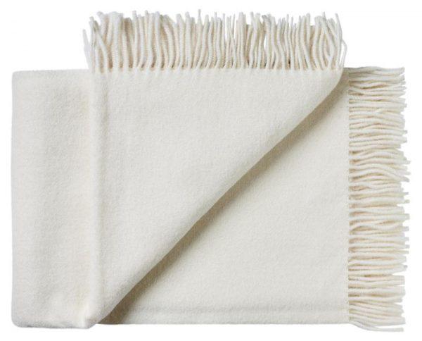 Deken wol: wit