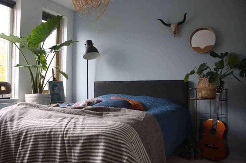 wollen deken slaapkamer