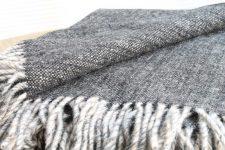 zwart plaid wol klippan