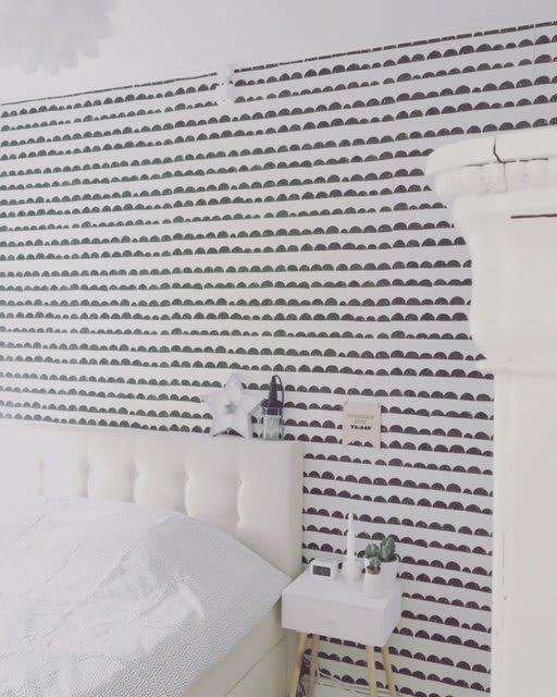 zwart-wit behang slaapkamer