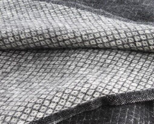 zwarte plaid wol klippan