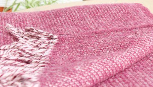 plaid bordeauxrood wol shimmer klippan