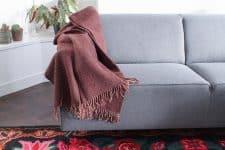 plaid bruin klippan shimmer wol