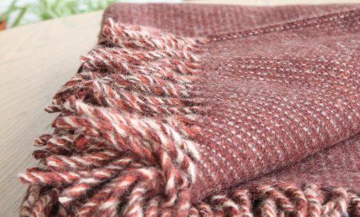plaid bruin wol klippan shimmer
