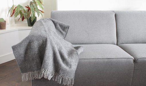 plaid grijs wol klippan shimmer