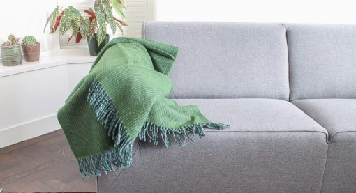 plaid groen wol klippan shimmer