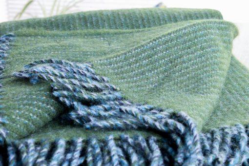 plaid groen wol shimmer klippan
