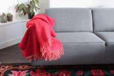 plaid rood klippan wol shimmer